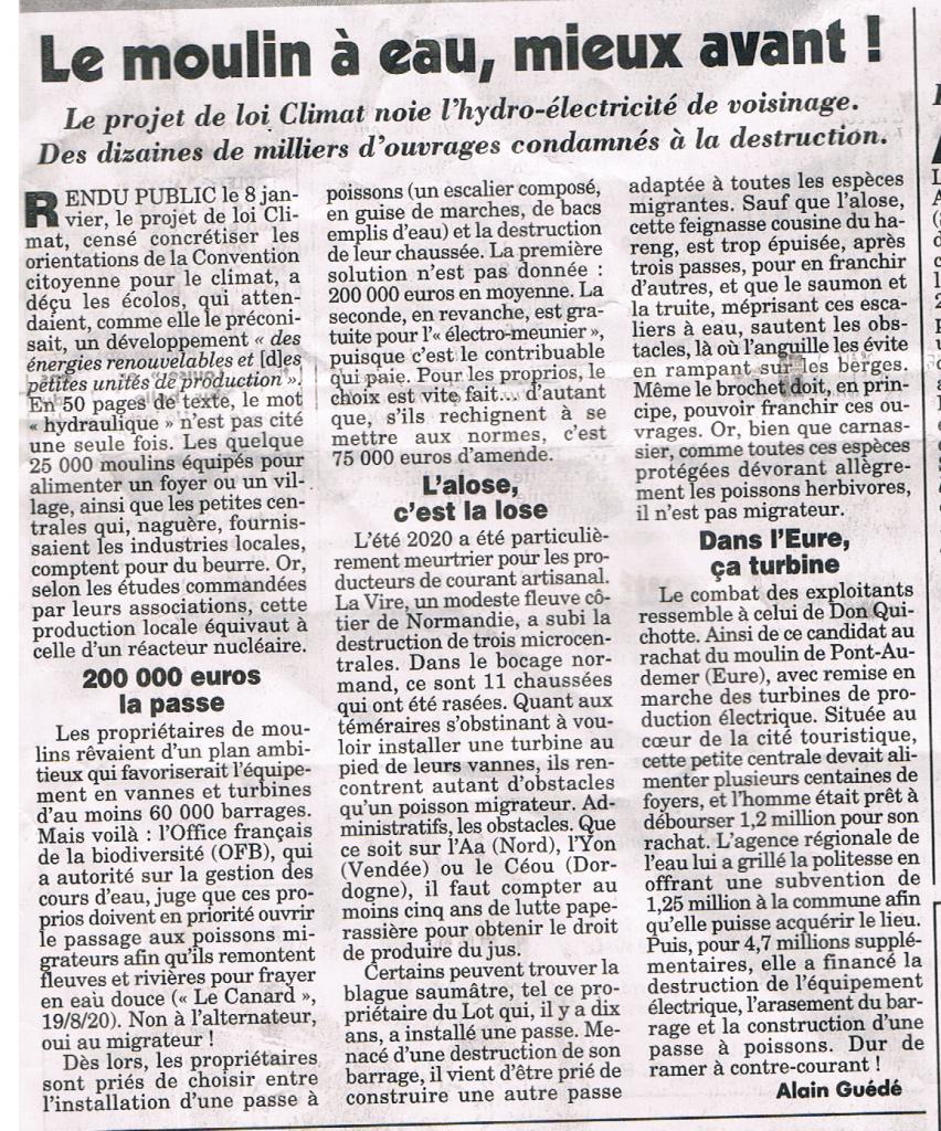 Nouvel Article du Canard Enchainé